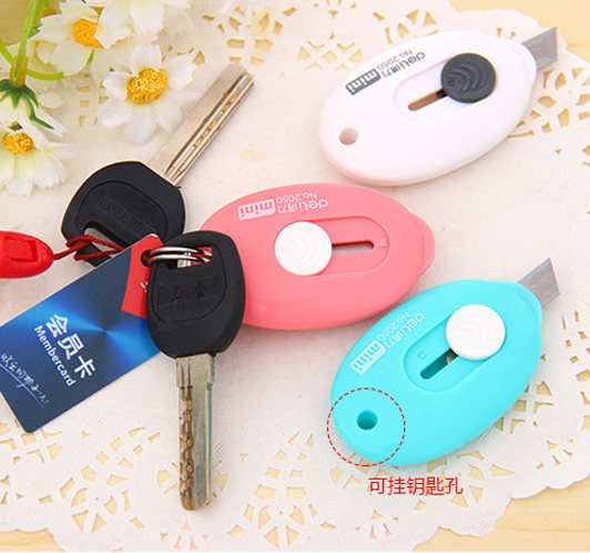 Pen knife small mini letter knife of fine arts in 2050 South Korea lovely mini portable hanging hole