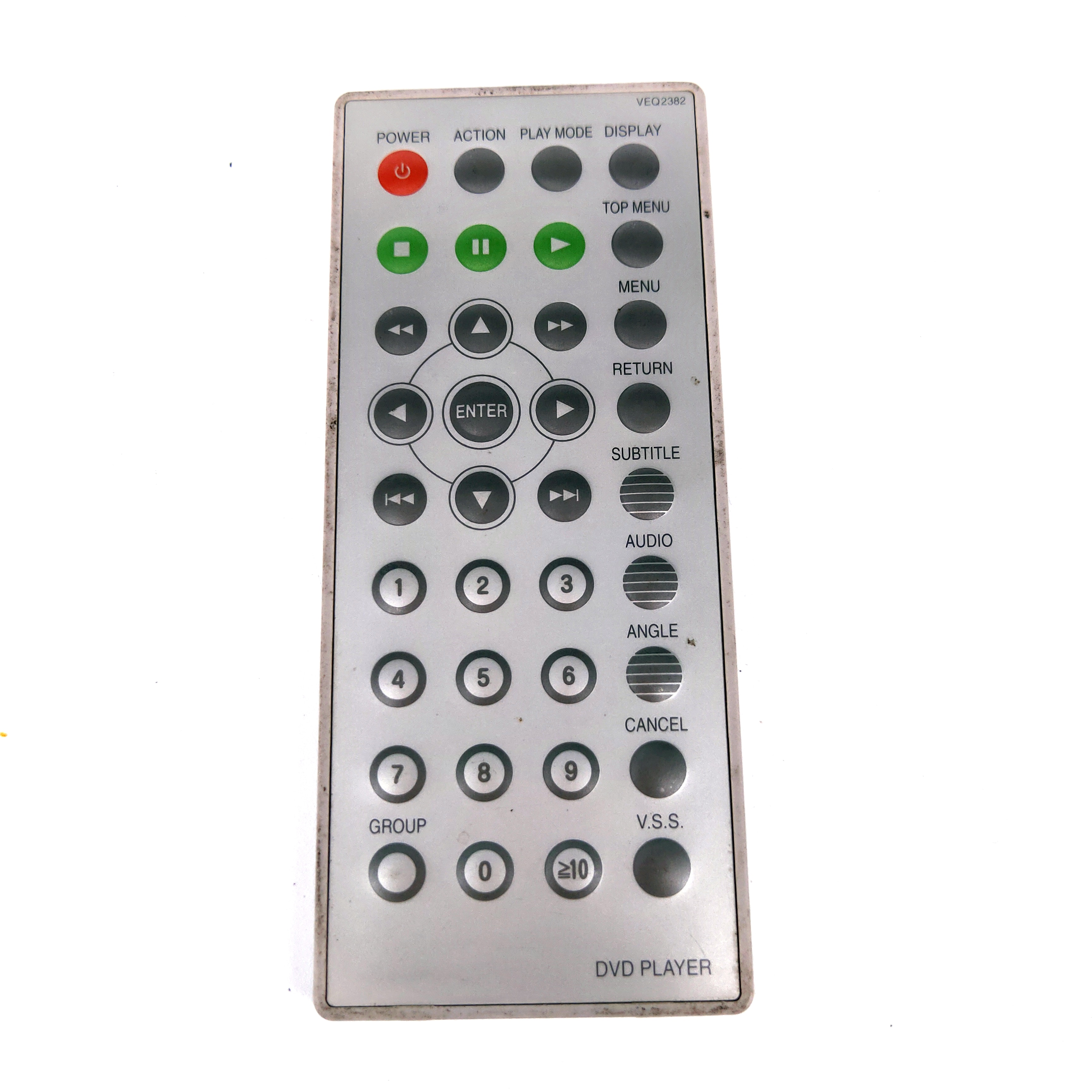 Used Original for Panasonic DVD Player Remote control VEQ2382 for DVD-LA85 DVD-LA85D DVD-PA65 DVD-PA65D DVDLA85 DVDLA85D DVDPA65