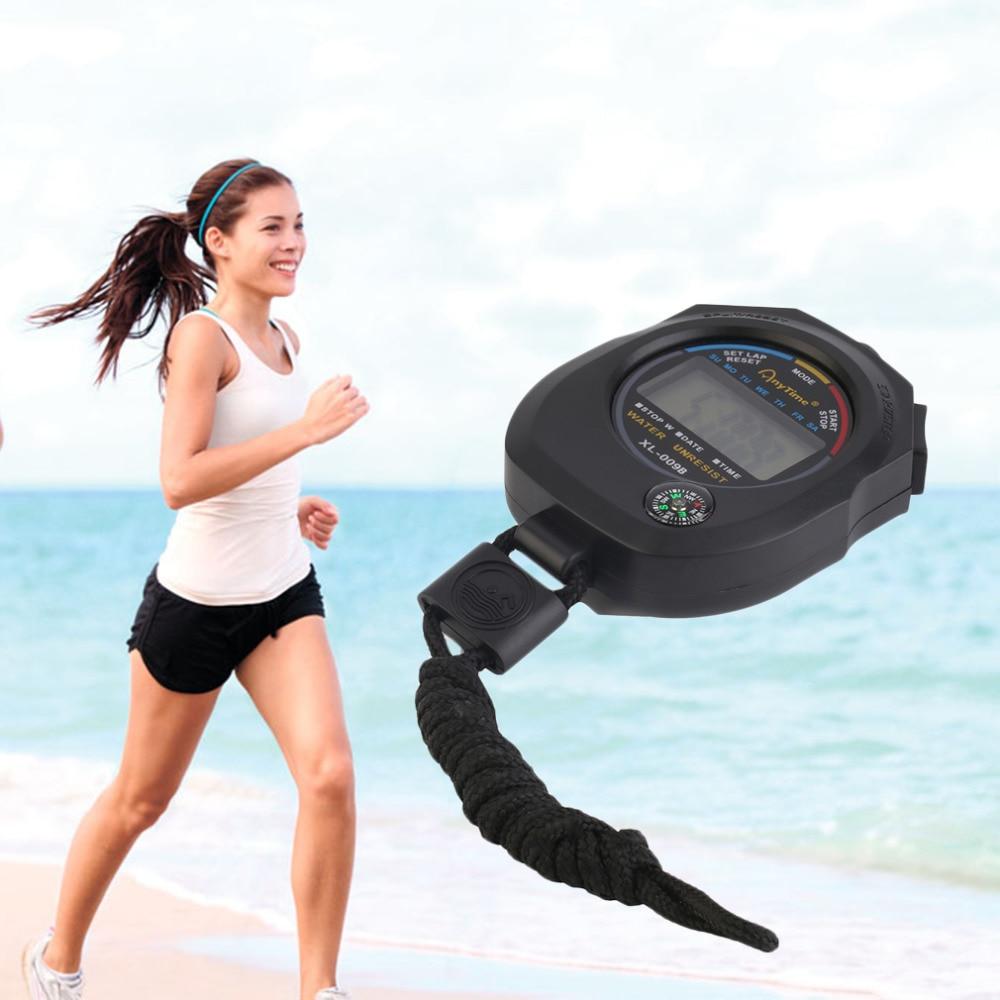Esportes Cronômetro Digital Portátil LCD Esportes Cronômetro Professional Chronograph Contador Temporizador com Alça hot vendendo Por Atacado