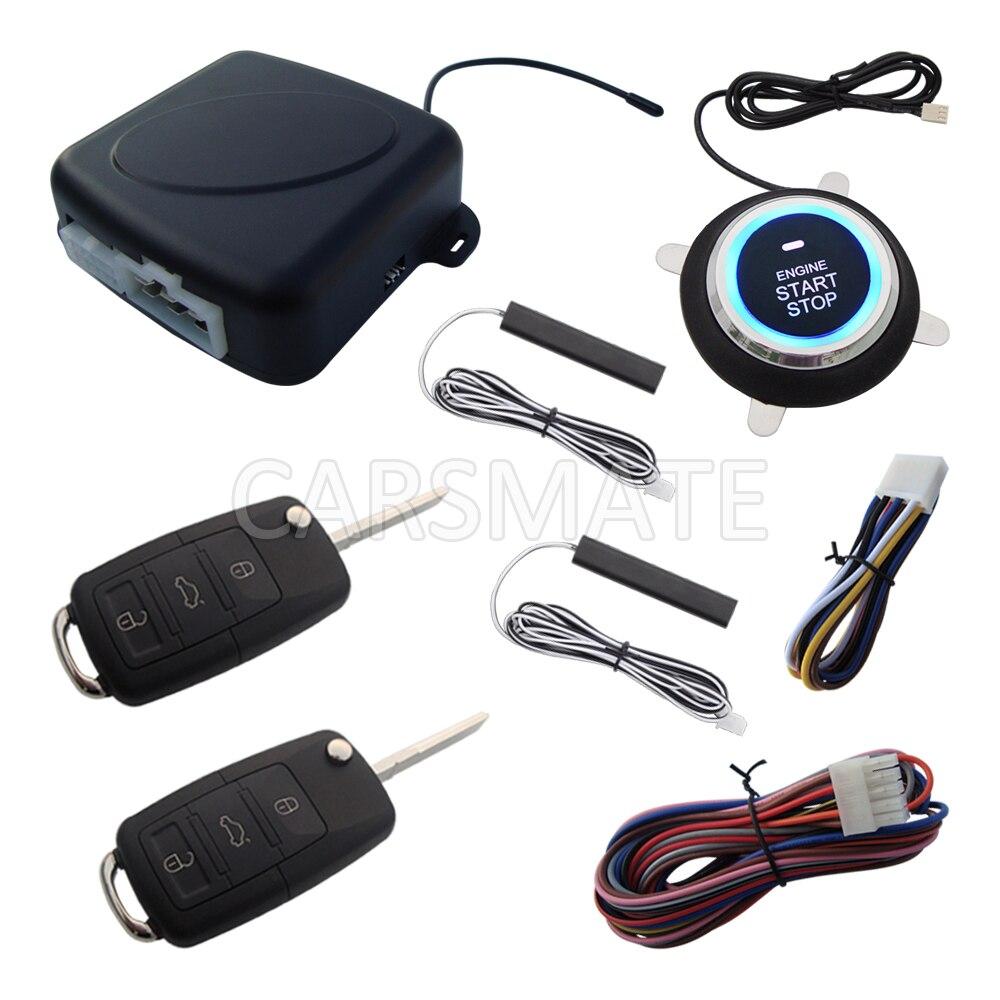 Neue PKE Auto Alarm System Mit HAA Flip Schlüssel Fernbedienung Remote Start Stop Motor Passive Keyless Entry Viele Roll code