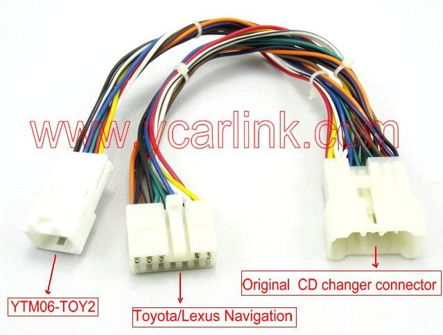 Yatour pour Toyota petit à grand adaptateur de câble Y (YT-SBY) pour Toyota/Lexus avec prise mâle dans la boîte daccoudoir central