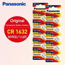 Panasonic 100% Original 10PCS CR1632 Button Cell Battery For Watch Car Remote Key cr 1632 ECR1632 GPCR1632 3v Lithium Battery