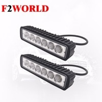 2 PCS OF Perfect led 6SMD Led Work Light Rectangular Head Lamp Double Row Flood Spot Beam Car Working Light 6SMD