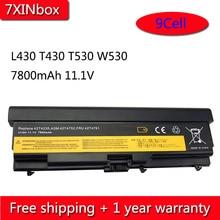 7XINbox 9 خلية 7800mAh 42T4235 بطارية لأجهزة لينوفو ثينك باد L430 T430 T530 W530 42T4733 42T4731 42T4757 42T4753 42T4703 45N1001