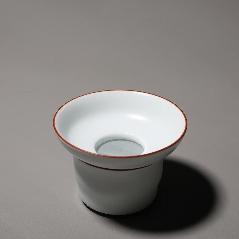 Пинни матовый белый фарфоровый чай ситечки пигментированный керамический чай Infusers Китайский кунг-фу чай аксессуары чайный лист фильтр для ...