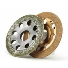 عجلة تقطيع ماسية مطلية بالكهرباء من قطعة واحدة لإزالة طلاء الصدأ من الألمونيوم عجلة كشط خشنة E027