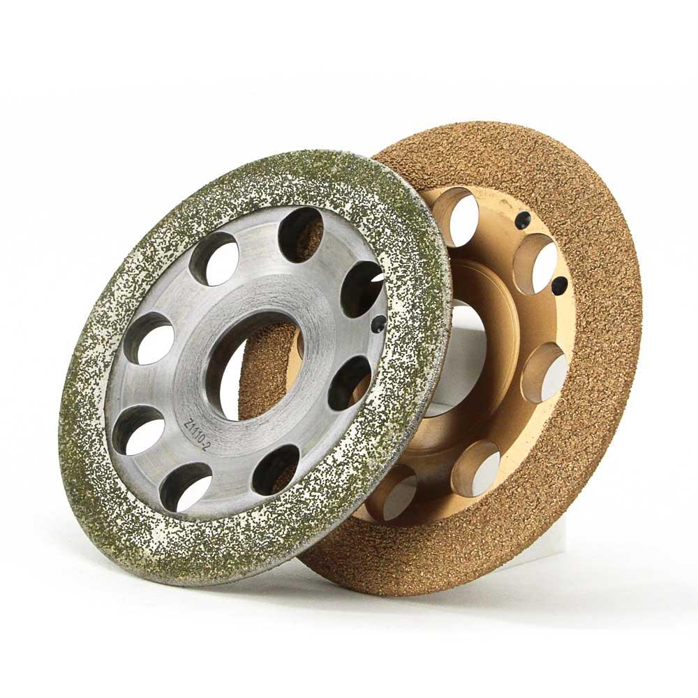 Roue daccrochage diamantée en une seule pièce pour le retrait de la peinture antirouille en aluminium roue abrasive rugueuse E027
