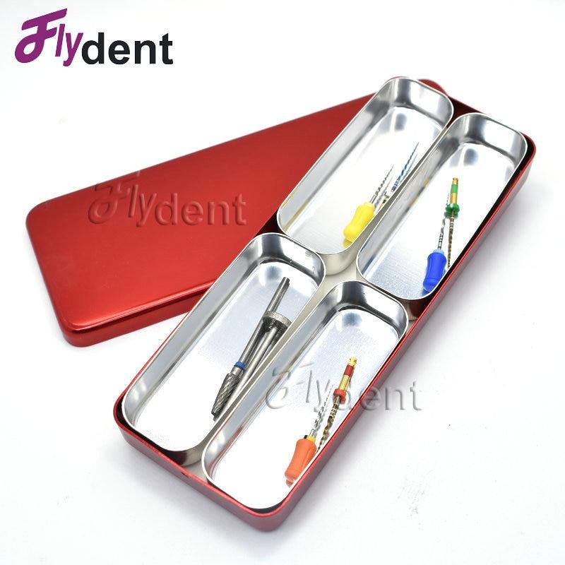 Caja de soporte de 4 agujeros para desinfección Dental, caja esterilizadora de Autoclave para herramientas de cuidado bucal, Color al azar