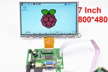 7 zoll 800*480 LCD Monitor Bildschirm mit Treiber-platine HDMI VGA 2AV für Raspberry Pi 3/2 Modell B