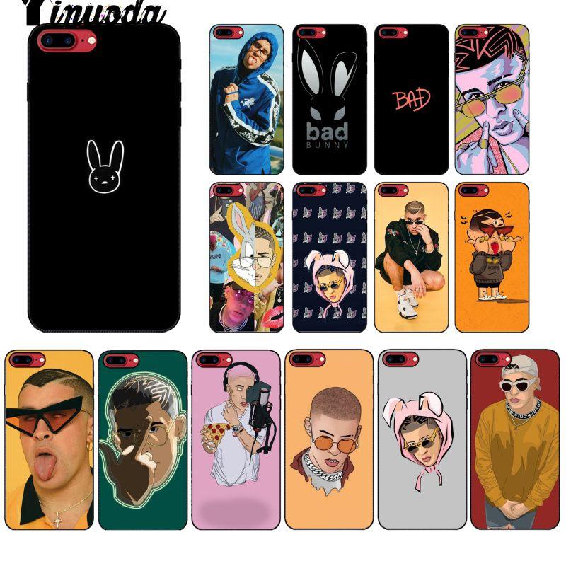 Yinuoda Bad Bunny Maluma TPU Soft Silicone Phone Case Cover for iPhone X XS MAX 6 6S 7 7plus 8 8Plus 5 5S XR