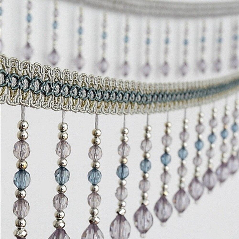 12 metros frisado pendurado grânulos borla franja aparamento applique fita fita banda cortina mesa casamento decorado t2583