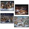 סנטה קלאוס שלג סצנת חדר תפאורה רקמת דפוס מלא כיכר יהלומים 5D DIY ציורי צלב סטיץ ערכות פסיפס מדבקות