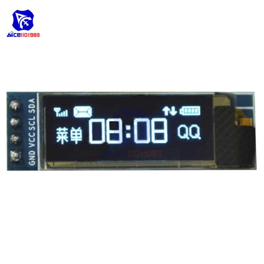 0.91 inch SSD1306 I2C IIC Interface Serial Blue 128x32 OLED LCD Display Module Board LCD Screen for Arduino
