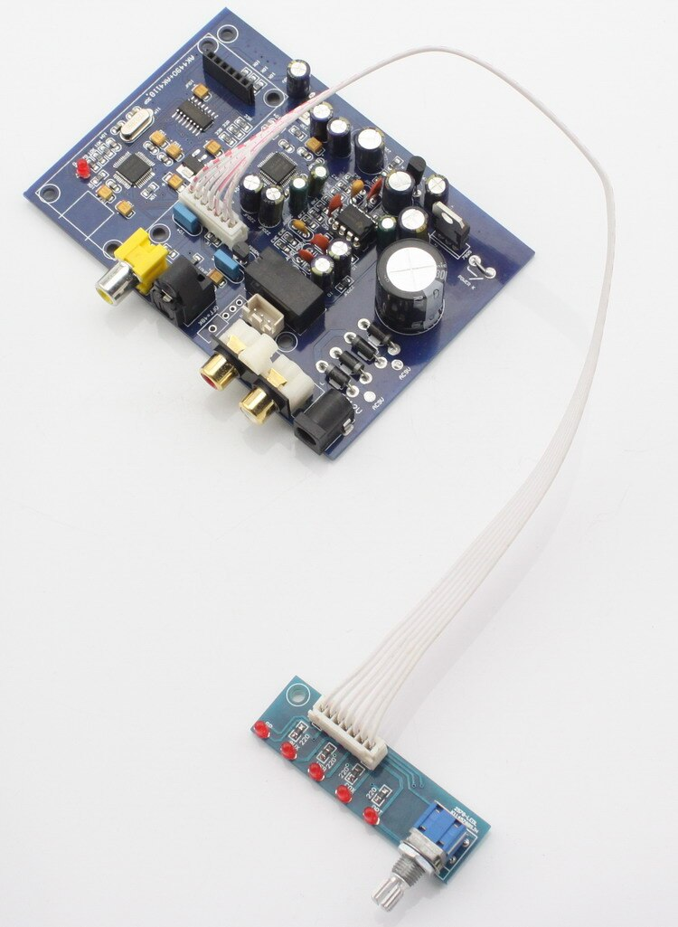 Free ship 15W AK4490 + AK4118 four channel input DAC decoder board With fiber coaxial USB (to add USB daughter card) analog four