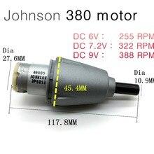 Moteur à engrenage planétaire   Violence 7.2V 27000RPM 1:83 380 DC, mouvement de perceuse électrique manuelle