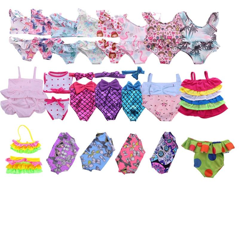 Boneca roupas boneca 15 pçs maiô estilos diferentes para 18 Polegada boneca americana & 43 cm acessórios para a geração