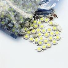 10-1000 pièces LED COB lampe puce 1W 3W 3.2-3.6V entrée 100-220LM Mini ampoule LED Diode SMD pour bricolage LED projecteur spot Downlight