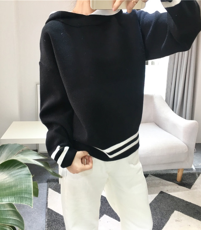 2020 Pullover Poncho Blusas De Inverno Feminina Spring New Women's Sweater Cashmere Knit Letter Sweate Loose Long-sleeved Woman enlarge