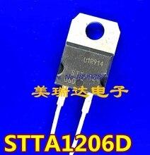 10 pcs/lots STTA1206D STTA1206 1206 DIODE GEN PURP 600V 12A TO220AC.