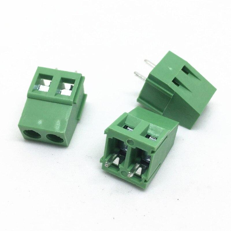 500pcs KF128-5.0-2P PCB Screw Terminal Block Connector KF128-2P pitch: 5.0MM 300V 10A Screw 2Pin 5.0MM Connection terminal block