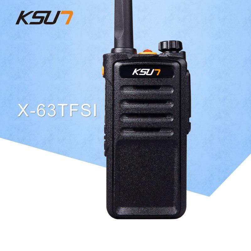 (1 PCS)KSUN X-63TFSI Black Walkie Talkie UHF 400-470 MHz MINI-Handheld Transceiver Two Way Ham Radio Communicator