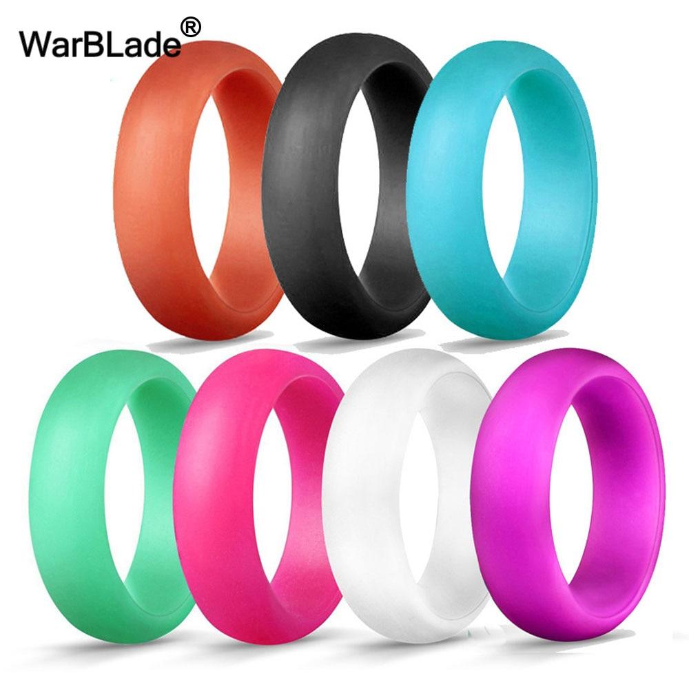 Bagues de mariage en Silicone pour femmes, anneaux de 5.7mm de qualité alimentaire FDA, tailles 4-10, 7 pièces