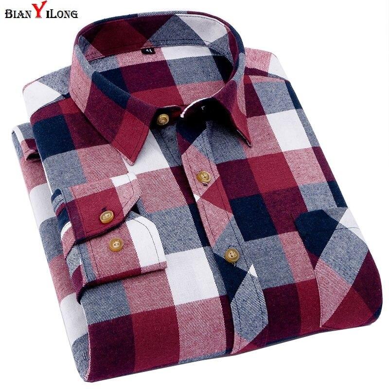 Camisa de franela a rayas para hombre, ajustada, de primavera, suave, para hombre, de negocios, informal, de manga larga, camisas de talla grande 5XL 6XL