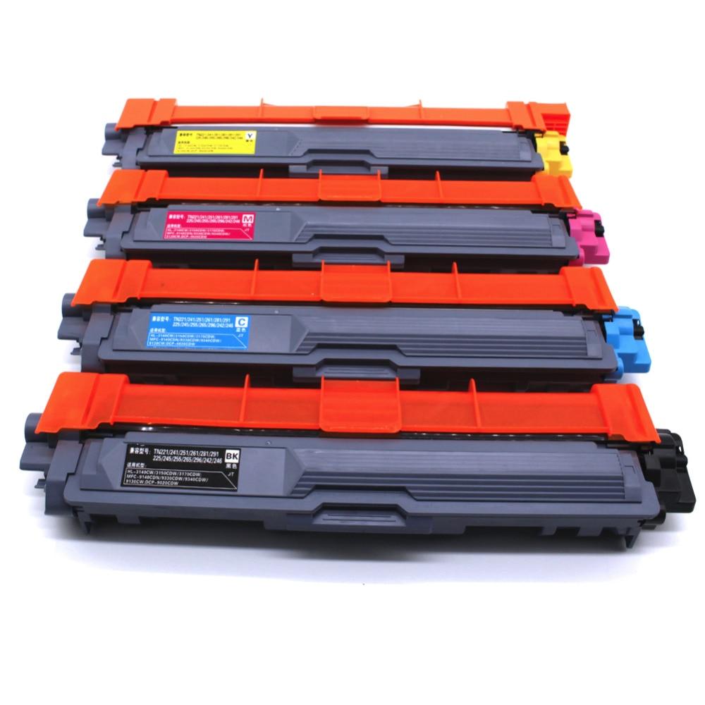 4 حزمة اللون خرطوشة الحبر متوافقة لأخيه TN291 DCP-9020CDW HL-3140CDW 3150CD 3170SDW 3190 MFC-9140CDN 9330CDW 9340CDW