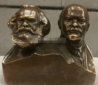 Медные украшения, тонкая латунь, Китайская народная культура, ручная работа, бронзовый бюст Ленина Сталина, статуя Маркса и Ленина, скульпту...