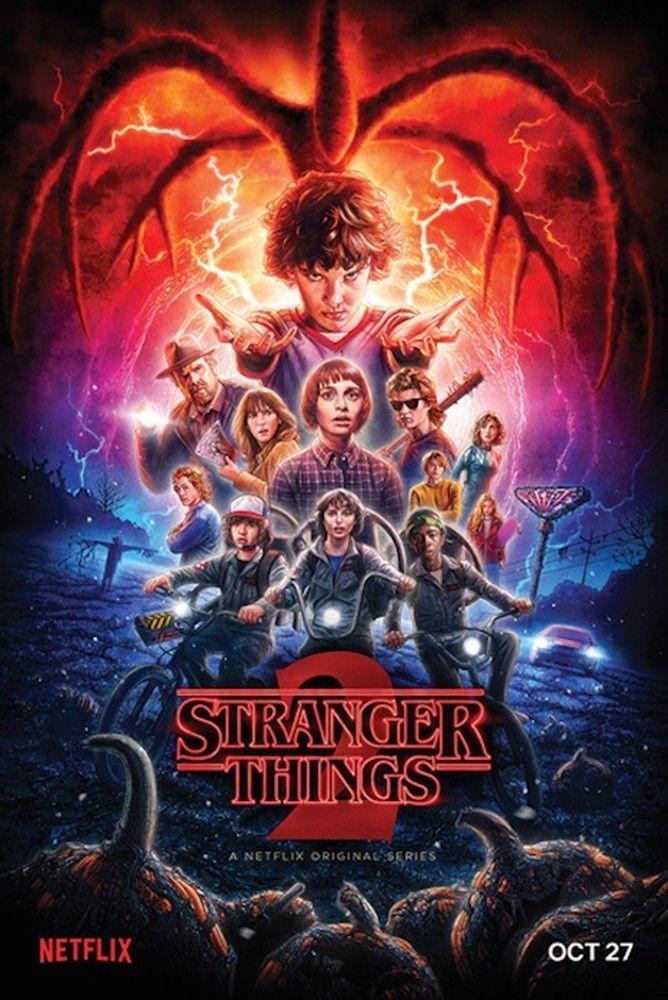 Extraño las cosas-Temporada 2 de cartel de pintura decorativa 24x36inch