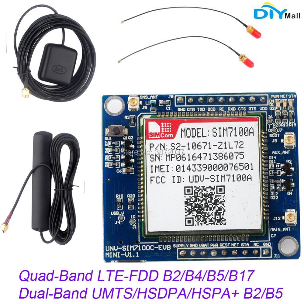 Módulo de red estadounidense SIM7100A PLACA DE DESARROLLO 4G + antena para Arduino Raspberry Pi Android Linux Windows