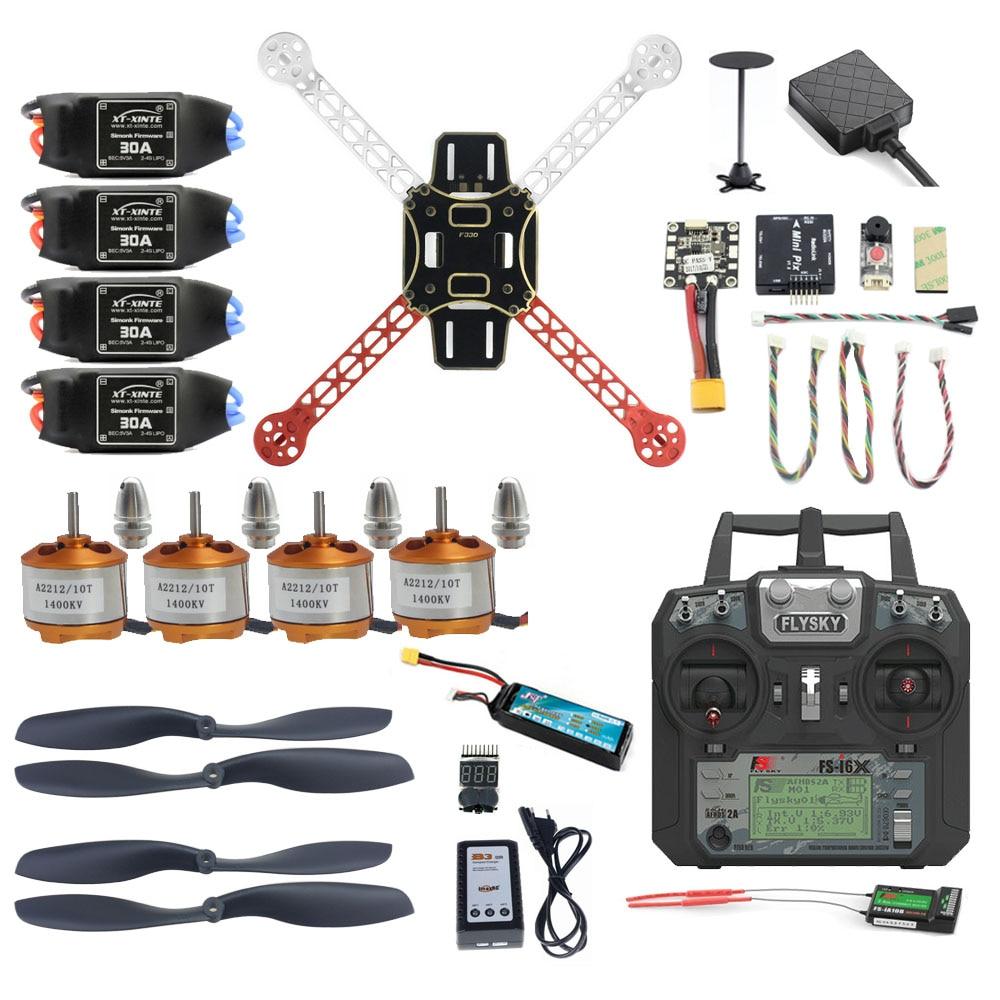 Полный комплект FPV Дрон Pro DIY Mini 330, 2,4G, 10CH, Радиоуправляемый 4-осевой Радиоуправляемый Дрон, Радиоуправляемый мини-Дрон PIX M8N, GPS, PIXHAWK, режим удер...