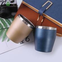 Tasse à café de voyage en acier inoxydable   Verre à vin, Double paroi, isolée sous vide, tasse incassable, tasse de bière pour pique-nique de 300ml