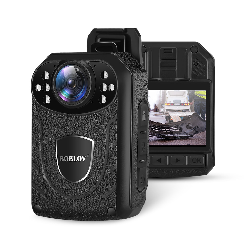 Boblov KJ21 Body Worn Camera HD 1296P DVR Video Security Cam IR Night Vision Wearable Mini Camcorder