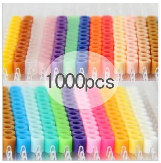 1000 pcs/Bag 5mm Hama Beads/ PUPUKOU Iron Beads Diy Perler Fuse Beads Intelligence Educational Toys Puzzles