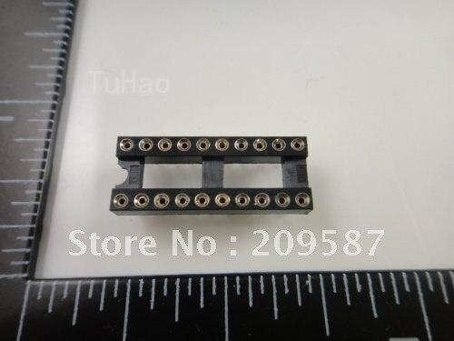 100 piezas 20 Pin 2,54mm DIP SIP IC conectores adaptador de tipo de soldadura