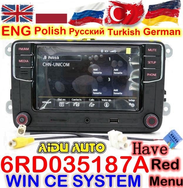 RCD330 RCD330G Plus 6,5 MIB радиоприемник RCD510 RCN210 стерео для VW Golf 5 6 Jetta MK5 MK6 CC Tiguan Passat B6 B7 Polo Touran 187A