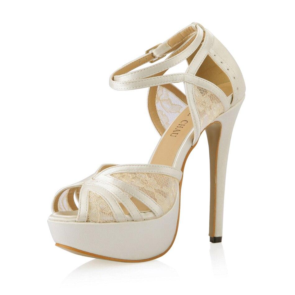 Sandalias de satén con plataforma para mujer, zapatos de tacón Alto, con...