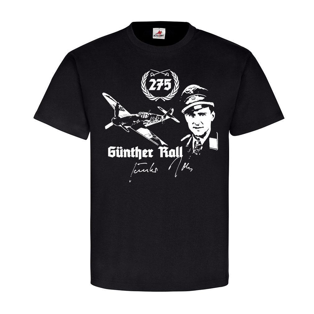 Manga corta para hombres, ropa de verano, Gunther Rall Jagdflieger Luftwaffe Me109 Pilot Ritterkreuz Trager, camiseta, camiseta