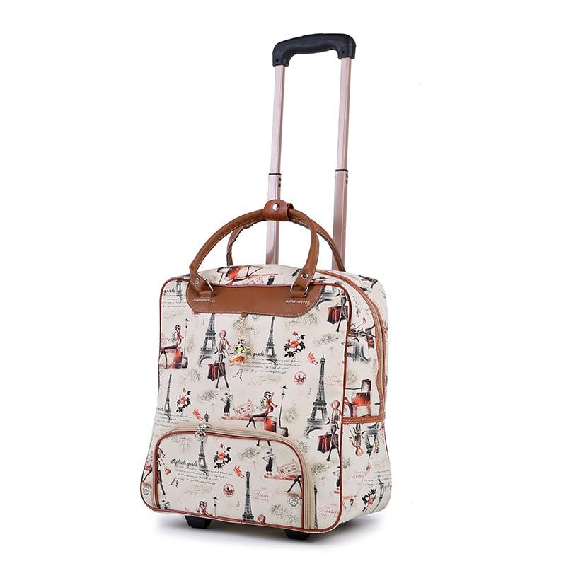 Maleta para mujer, Maleta Oxford con cabina impermeable, carrito, equipaje de mano, caja de remolque, cubierta de carrito de ruedas Universal