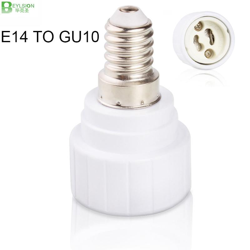 E14 в GU10 патрон лампы преобразователи лампы базовые преобразователи светодиодные лампы адаптер конвертер держатель детали светодиодной лампы аксессуары