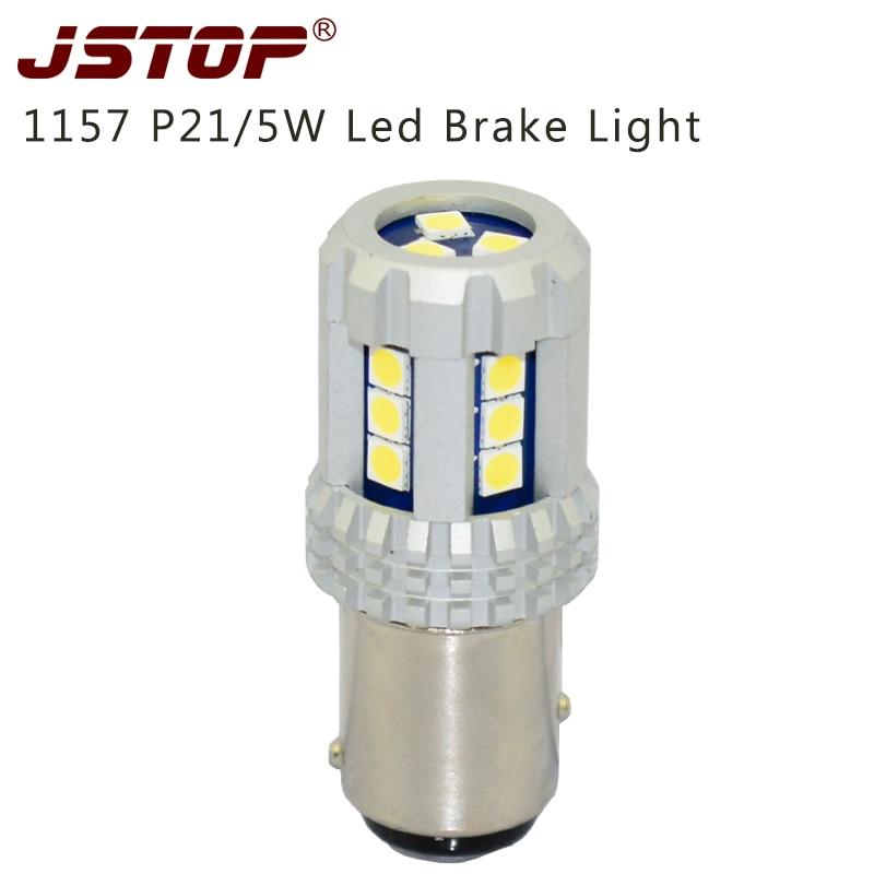 JSTOP nuevo producto Luces de Freno led 12-24VAC 303030smd lámparas de coche led 6000k auto bulbos externos 1157 P21/5 W BAY15D luces de freno de coche