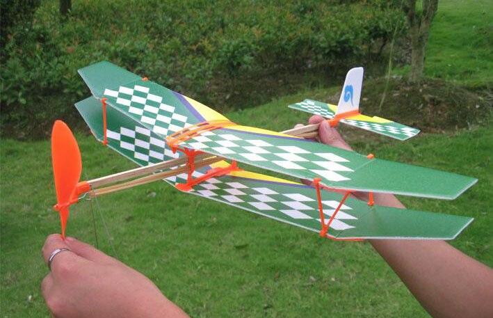 Thunderbird-banda de goma alimentada para aviones, modelo de espuma para lanzar a...