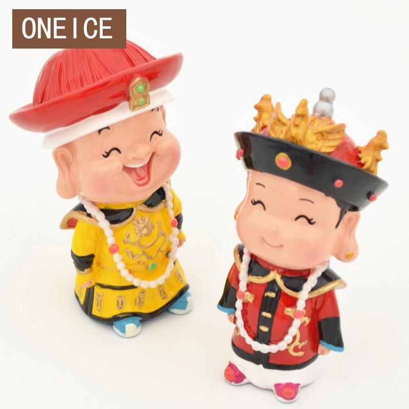 Pekín Tour Souvenirs palacio museo Taobao emperador pequeñas figuras de arcilla artesanías adornos en el extranjero regalos
