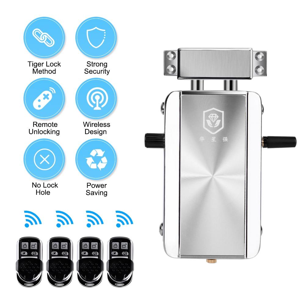 Security Electronic Door Lock Remote Control Keyless Safe Lock Door Entry Smart Wireless Anti-theft Deadbolt Access Control
