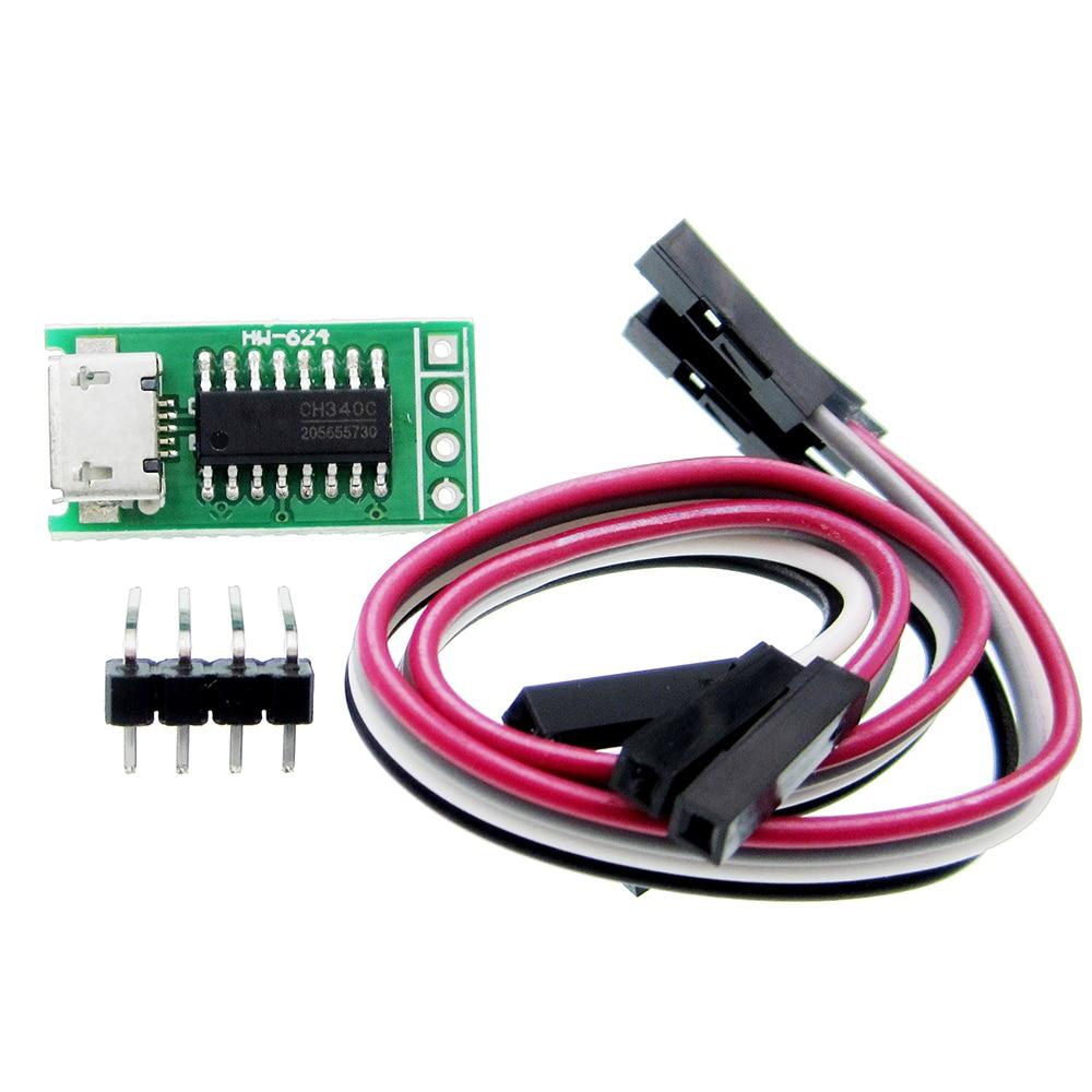 CH340C Micro USB toTTL puerto serie ISP Módulo de descarga 5 V/3,3 V 500ma reemplazar CP2102 CH340G CH340T para STM32 51 con línea DuPont