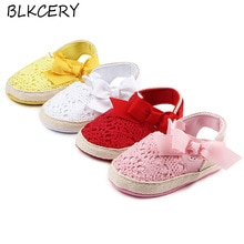 Brand New Fashion Baby Girl Shoes with Bow Infant Soft Sole Non-slip Bottom Footwear Toddler Crib Sh