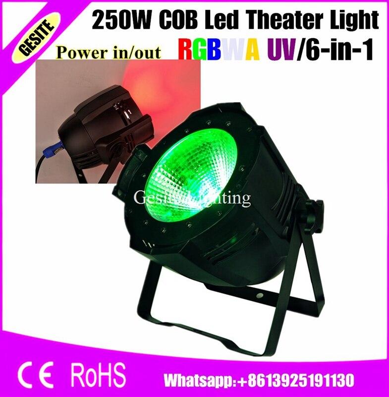 6 unids/lote fabricante escenario profesional de disco DJ RGBW 4IN1 COB LED 200W inteligente Par luz 250W