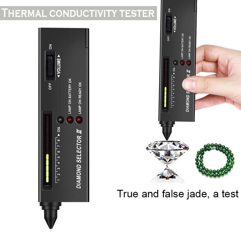 Nuevo selector de prueba de gemas de diamante portátil con caja de herramientas de joyería de plataforma de piedras preciosas XSD88