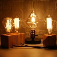 חידוש abajur רטרו אדיסון טונגסטן הנורה מנורת שולחן מנורת חדר שינה שולחן קישוט המיטה מנורת יום הולדת מתנת לילה אור